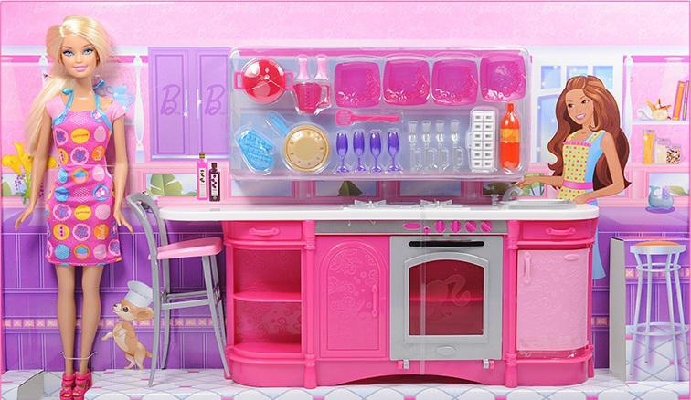 Barbie Doll Cooking Fun Kitchen X3229 Original Brand The ...