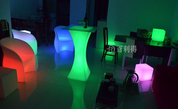 Neue mode Led möbel RGB farbe Cocktail tisch wasserdicht Rezeption tisch hochzeit bar versorgung 1 satz / los