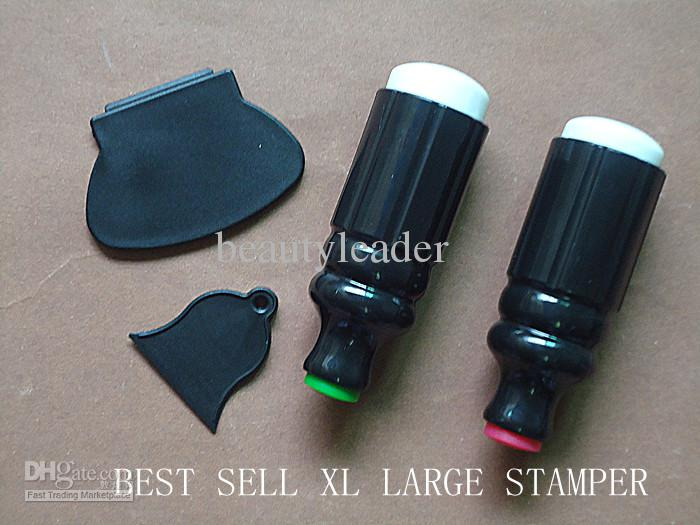 Xl Large Silica Dual Double Sided Ended Stamp Stamper + Scraper Nail ...