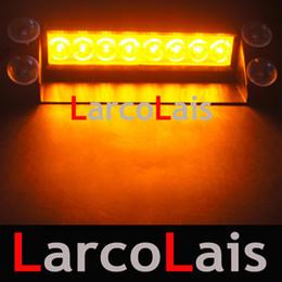 Free shipping Amber White 8 LED Strobe Flash Warning EMS Car Truck Light Flashing Firemen Fog Lamp on Sale
