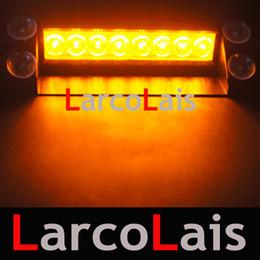 Wholesale Amber 8 LED Strobe Flash Warning EMS Car Truck Light Flashing Firemen Fog Lights 8LED