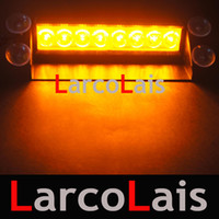Wholesale red fire truck - LarcoLais 8 LED High Power Strobe Lights Fireman Flashing Emergency Warning Fire Car Truck Motor Light