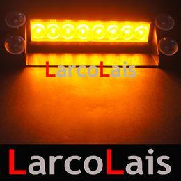 Wholesale Led Lights Fire Trucks - LarcoLais 8 LED High Power Strobe Lights Fireman Flashing Emergency Warning Fire Car Truck Motor Light