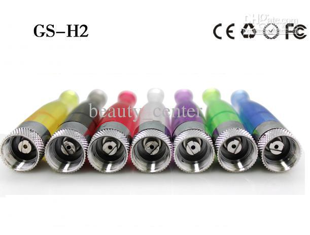 Promotion GS-H2 Detachable Clearomizer GS H2 No Wick Clearomizer for eGo Electronic Cigarettes in Retail Packaging