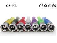 Wholesale Plastic Ego Packaging - GS H2 Atomizer GS-H2 No Wick Clearomizer Detachable Clearomizer for eGo Electronic Cigarettes in Retail Packaging