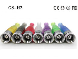 Wholesale Ego Retail - GS H2 Atomizer GS-H2 No Wick Clearomizer Detachable Clearomizer for eGo Electronic Cigarettes in Retail Packaging