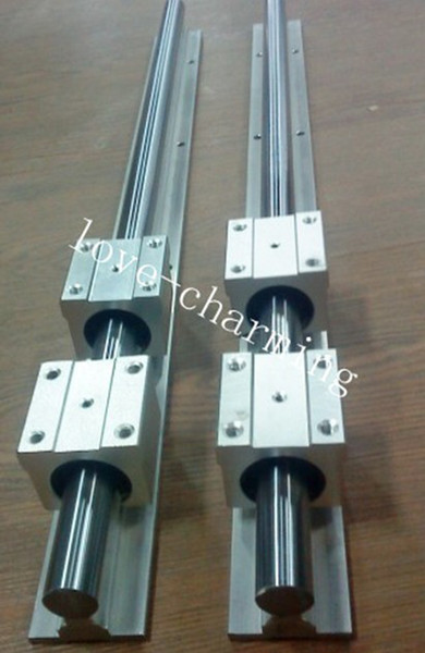 best selling 2 Sets SBR12-330mm 12mm fully support linear rail shaft rod + 4pcs SBR12UU linear bearing