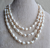 Compra Perle D'acqua Dolce Lunga Collana-Barocco Pearl Necklace-Pearl Jewelry, 55 pollici aa 11-14MM d'acqua dolce collana di perle, collana di perle lunga, collana di perle, all'ingrosso, libero S