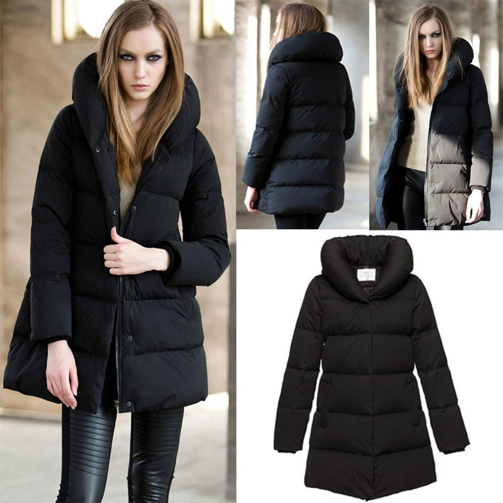 2018 Womens Winter Thick Duck Down Jacket Long Warm Parka/Puffer ...