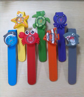 Wholesale Acrylic Price Tags - Factory price!! Cute Animal Small Snap Slap watch Silicone Candy Jelly ocean animal series Watch Quartz Watches DHL free ship best2011
