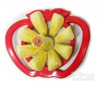 corte de cuchillo de fruta libre al por mayor-Utensilios de cocina Corer Slicer Easy Cutter Cut Fruit Knife Cutter para Apple Pear Envío Gratis