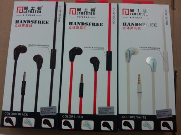 Heißer verkauf Langsdom JM12 3,5mm In ohr Kopfhörer Cobra Form Hifi Headset mit mikrofon Freisprecheinrichtung für Handy MP3