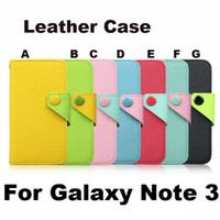 Wholesale Note3 Fashion Wallet Leather TPU inner Credit Card Case Cover Holder For Samsung Galaxy Note III N9000
