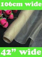 Wholesale Pure Silk Fabric Material - Pure Silk Organza fabric Dark ivory dressmaking sewing material the Yard DD