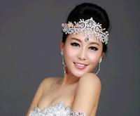 Wholesale Handmade Beaded Headbands - New Handmade Bridal Wedding Jewelry Crystal Rhinestone Tiaras Hair Comb Combs Crown Hair Accessories Beaded Pieces Pins Favors Set Fashion