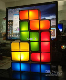 Wholesale Tetris Stackable Led Desk Lamp - Fashion Tetris Stackable LED Desk Lamp Tetris Lamp Party supplies Free shipping