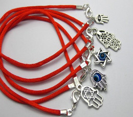 Wholesale Good Items - Hot Items 100Pcs Mixed Kabbalah Hand Charms Red String Good Luck Bracelets