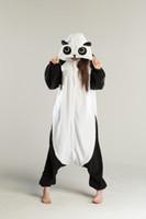 Wholesale Cheap Onesie Dress - Cheap Funny Lovely Panda Cosplay Costume unisex Adult Onesie Dress Soft Warm Sleeping Bridal Undergarments