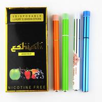 Wholesale Health Cigarette Sets - Disposable Electronic Cigarette E Shisha Pen Health 9 Fruit flavor hookah vapor 9 colors DHL EMS Free