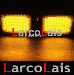 Wholesale Led Car Light Flash Bright - 86 LED Super Bright Car Truck Visor Strobe Flash Light Panel 86LED 2x43 LED 6 Optional Colors Amber White