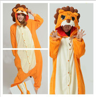 Wholesale Cheap Onesie Dress - Hot Sell Pajamas Cheap Funny Lovely Lion Cosplay Costume Unisex Adult Onesie Dress Or Bridal Undergarments