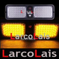30 ensembles 86 LED Super Bright Car Truck Visor Strobe Flash Light Panel 86LED 2x43 LED Livraison gratuite