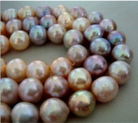 Wholesale Pink Pearl Necklace 14k - New Fine Pearls Jewelry AAA 10-11mm natural Australian south sea gold pink purple pearl necklace 19inches 14k