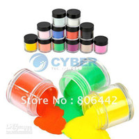Wholesale Acrylic Powder Jumbo - 12Colors Acrylic Powder Dust Jumbo Set for Professional Nail Art Design 2016 hot Free Drop Shipping
