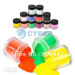 Wholesale Professional Nails Designs - 12Colors Acrylic Powder Dust Jumbo Set for Professional Nail Art Design 2016 hot Free Drop Shipping