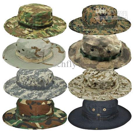 Wholesale Military Army Camouflage Hat Tactical Bucket Sun Bonnet Beret Camo  Fishman Cap Hiking Multicam Boonie Hat Crazy Hats Fishing Hat From Zchfly f790e5a8d35