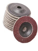 Wholesale Fiberglass Grinding - free shipping 10pcs 100x3x16mm QUICK CHANGE SANDING FLAP DISC GRINDING WHEEL for GRIT ANGLE GRINDER