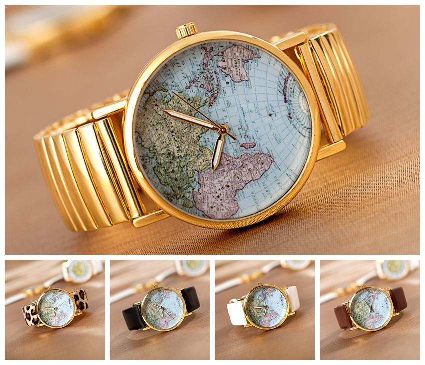 Women new style world map watch pu leather band rose gold dail beard women new style world map watch pu leather band rose gold dail beard quartz watch w1395 online shopping for watches watch shopping from jerrycao gumiabroncs Image collections