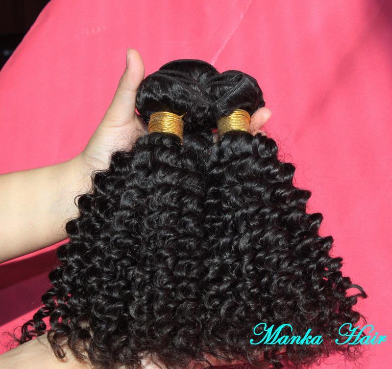 الشعر العذراء البرازيلي 3 حزم / لوط غريب نسج مجعد الشعر حزم 100٪ التمديد الشعر البرازيلي الإنسان الشعر