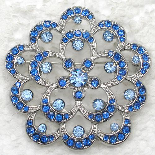 Wholesale Crystal Rhinestone Bridesmaid Wedding Party Brooches Girl Flower Pin Brooch fashion Apparel pins C811