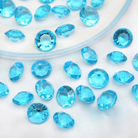 Wholesale Table Scatter Aqua Blue - Tracking Number-500pcs 10mm (4 Carat) Aqua Blue Faux Acrylic Crystal Diamond Confetti Table Scatter Wedding Favors Party Decoration