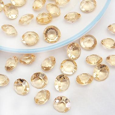 Tracking Number-500pcs 10mm (4 Carat) Gold Shadow Faux Acrylic Crystal Diamond Confetti Table Scatter Wedding Favors Party Decoration