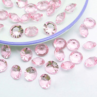 Wholesale Wedding Table Confetti Crystals - Tracking Number-500pcs 10mm (4 Carat) Light Pink Faux Acrylic Crystal Diamond Confetti Table Scatter Wedding Favors Party Decoration