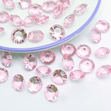 Tracking Number-500pcs 10mm (4 Carat) Light Pink Faux Acrylic Crystal Diamond Confetti Table Scatter Wedding Favors Party Decoration