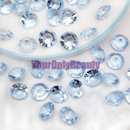 Wholesale Blue Acrylic Wedding Table Confetti - Tracking Number-500pcs 10mm (4 Carat) Sky Blue Faux Acrylic Crystal Diamond Confetti Table Scatter Wedding Favors Party Decoration