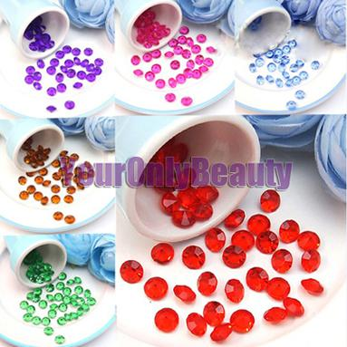 Tracking Number-10mm 4 Carat Crimson RED Faux Acrylic Crystal Diamond Confetti Table Scatter Wedding Favors Party Decoration