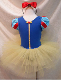 Wholesale fairy snow - Wholesale - girl cosplay children cosplay snow white princess styling dress blue