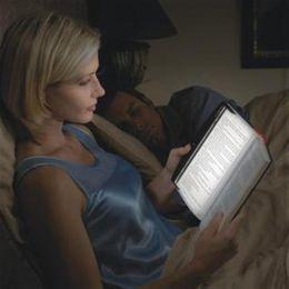 NOVITÀ Christmas LED Night Book Lampada da lettura Light Panel wedge Paperback in Offerta