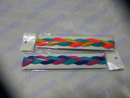 Wholesale Headband Nylon Women - Custom woman Braided girl Headbands Mini Headbands style 0231 Soft Nylon headband Silicone keep the band in place