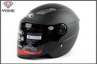 Wholesale Matte White Cars - wholesale moto helmets YOHE Half helmet electro car helmets YH-837 Motorcycle helmet motorbike helmet off road helmet with ABS   matte black