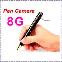 Wholesale Microphone Spy Pen - HK POST Free Shipping Mini Hidden Spy Pen Camera 8GB Microphone 30FPS Covert Surveillance Wireless Video Recorder