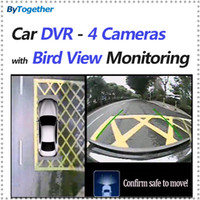 Wholesale Parking Assist Sensors - 360 Degree Car DVR with 4 cameras recording and Bird Eye View Monitoring Parking Assist System and round View Camera System panoramic viewi
