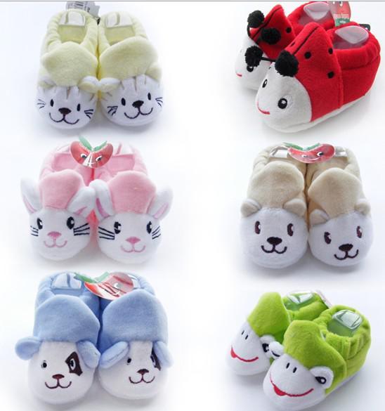 30%OFF!Cartoon animal caps socks. Coral velvet shoe. Soft bottom anti-shedding, toddler shoes.cheap.baby wear.china 12pairs/24pcs J