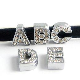 christmas dog collars 2019 - Factory Price 26PCS10MM Full Rhinestone Slide Letter DIY accessory Fit 10mm Dog Collar & Wristband & Belt   Fast LSSL02*