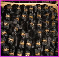 Wholesale Salon Hair Color Wholesale - 40pcs lot 1200gram Bulk Quantity Indian Human Hair Weave Unprocessed Salon Extenion Sew Wefts Affordable price 8A