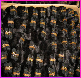 Wholesale Salon Hair Color Wholesale - 40pcs lot 1200gram Bulk Quantity Indian Human Hair Weave Unprocessed Salon Extenion Sew Wefts Affordable price 8A